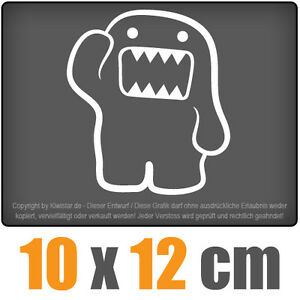 Domo-10-x-12-cm-JDM-decal-sticker-coche-car-blanco-discos-pegatinas