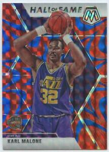 KARL MALONE 2019-20 PANINI MOSAIC #284 HALL OF FAME REACTIVE BLUE PRIZM