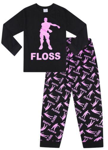 Floss Dance Gaming Dance Pink Cotton Long Pyjamas