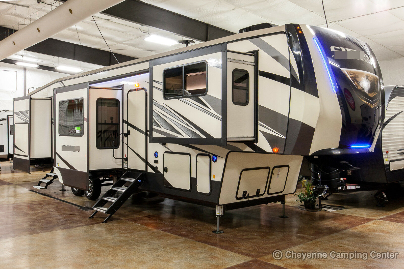 New 2019 379flok front living room 5th fifth wheel extended season rv 6 slides rv campers for sale for Front living room fifth wheel rv for sale