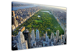 NEW YORK CENTRAL PARK CANVAS WALL PRINTS HOME DECORATION POSTERS ART ...