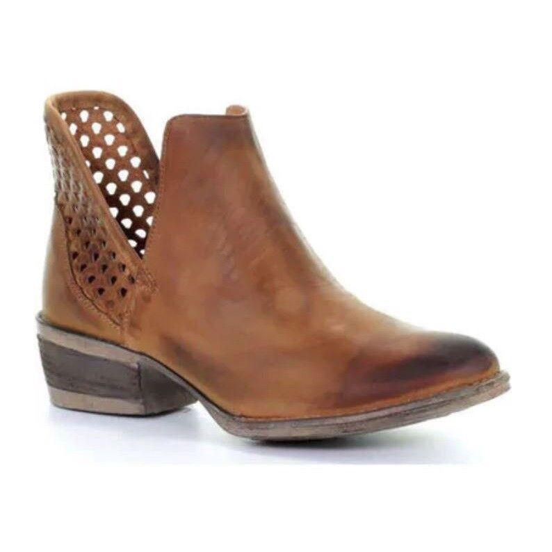 Circle G by Corral Ladies Brown Cutout Shortie Boot Q5027