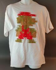 Super Mario~8 bit~pixeled~White~T-shirt. Size: XL. Nintendo. Graphic Tee