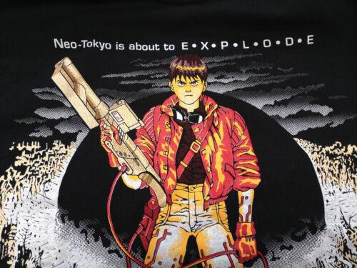 XXL 1992 AKIRA KANEDA BLACK T SHIRT  VINTAGE ANIME  NEO TOKYO VINTAGE ORIGINAL