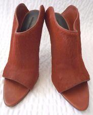 Alexander Wang Peep Toe Pony Hair Mules Shoes Size 38
