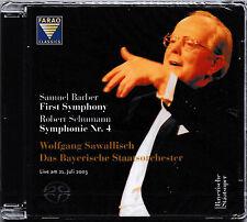 Wolfgang Sawallisch - Barber/First Symphony+Schumann/Symphonie Nr.4  [SACD] NEU!