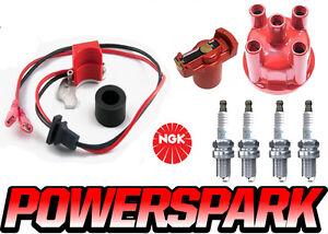 VW-Beetle-VW-T1-amp-T2-1-6-Kappe-Rotor-B5HS-NGK-Stecker-und-powerspark-Zuendung-Kit