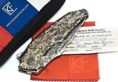 Custom CKF Muscle ONE OFF #2 Tashi Bharusha M390 Custom Knife Factory w/Bearings