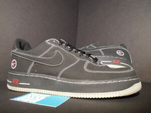 new concept 5eae3 ef4fa Image is loading NIKE-AIR-FORCE-1-CHOSEN-MATRIX-BLACK-RED-