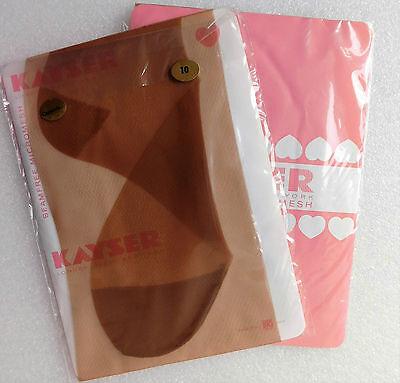 Kayser vintage nylon stockings size 10 Seam free Vintage 1950s 1960s Capuccino