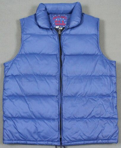 Vintage Down Fill Country USA Snap Front Puffer Ve
