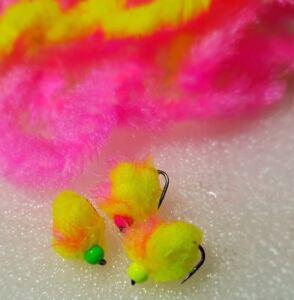 3-Mixed-Eggstasy-Mxd-Mohawk-Fl-Yellow-Trout-Eggs-Trout-Blobs-Trout-Flies