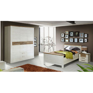 jugendzimmer duro seniorenzimmer schlafzimmer pinie wei und eiche antik 4059236031360 ebay. Black Bedroom Furniture Sets. Home Design Ideas
