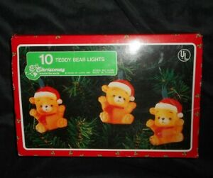 Details about VINTAGE 1987 HOUSE OF LLOYD 10 TEDDY BEAR CHRISTMAS LIGHTS  TREE LIGHT STRAND BOX