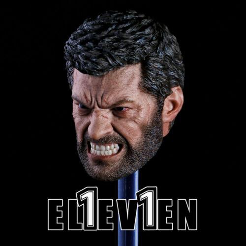 "ELEVEN 1//6 Angry Logan Wolverine Head Sculpt Hugh Jackman For 12/"" Figure U.S.A."