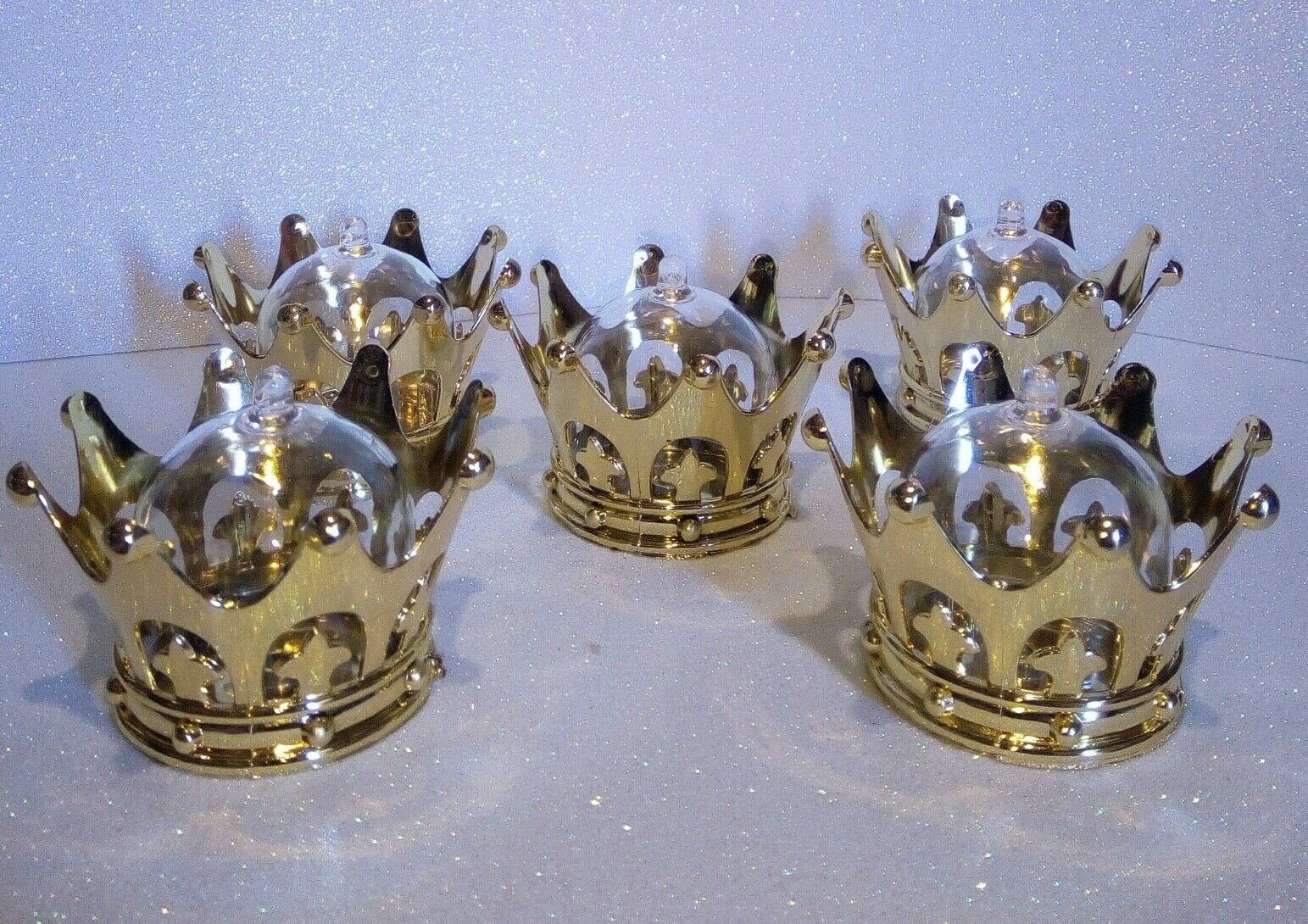 250pcs Gold Crown Dome, Decor Favor Box keepsake Baby shower, Wedding, Birthday