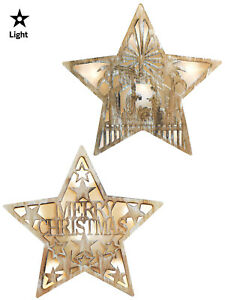 Wooden-Light-Up-Cut-Out-Star-Christmas-Decoration-Picture-Pre-Lit-LED-Nordic