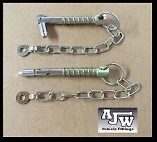 2 X SPADA PERNO E CATENA 12,5 mm x 88mm (parti rimorchio CHIAVETTA di serraggio LINCH PIN Lynch PIN)