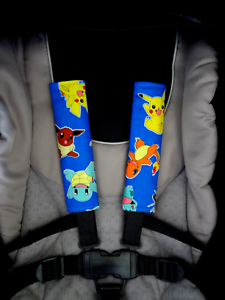 Pokemon-Baby-child-Seat-Belt-Shoulder-Strap-Covers-Pram-Stroller-Car-Seat