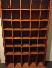 Wooden Wall Mount Large Organizer Shelf Cabinet Curio Display Shadow Box Case