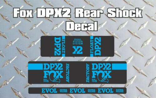 Fox DPX2 Rear Shock Style Fork Sticker Decal Graphics Enduro DH BLUE