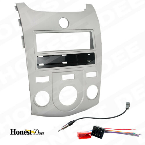 FORTE// KOUP DOUBLE//2//D-DIN CAR STEREO INSTALL RADIO SILVER DASH KIT COMBO 7338S