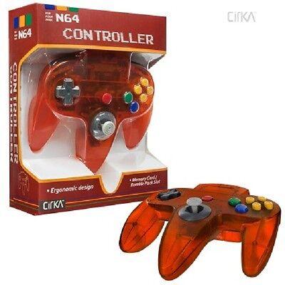 NEW Clear Fire Orange CirKa Controller Control Pad Gamepad for N64 Nintendo 64