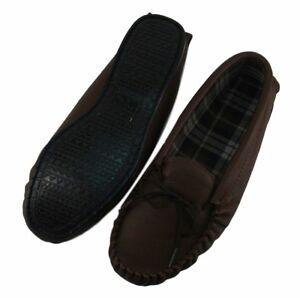 en la ~ en Royaume PVC main Mocassins luxe marron Uni à au cuir de Semelle Fabriqué dnAqw