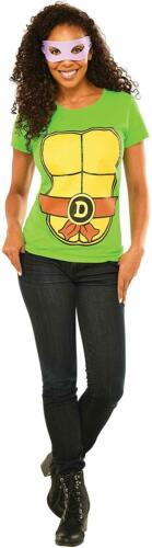 Details about  /Donatello Shirt Mask TMNT Ninja Turtles Fancy Dress Up Halloween Adult Costume