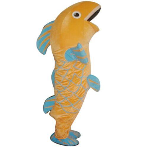 Fancytrader Fish Carp Mascot Costume Character Fancy Dress Adult Size Halloween