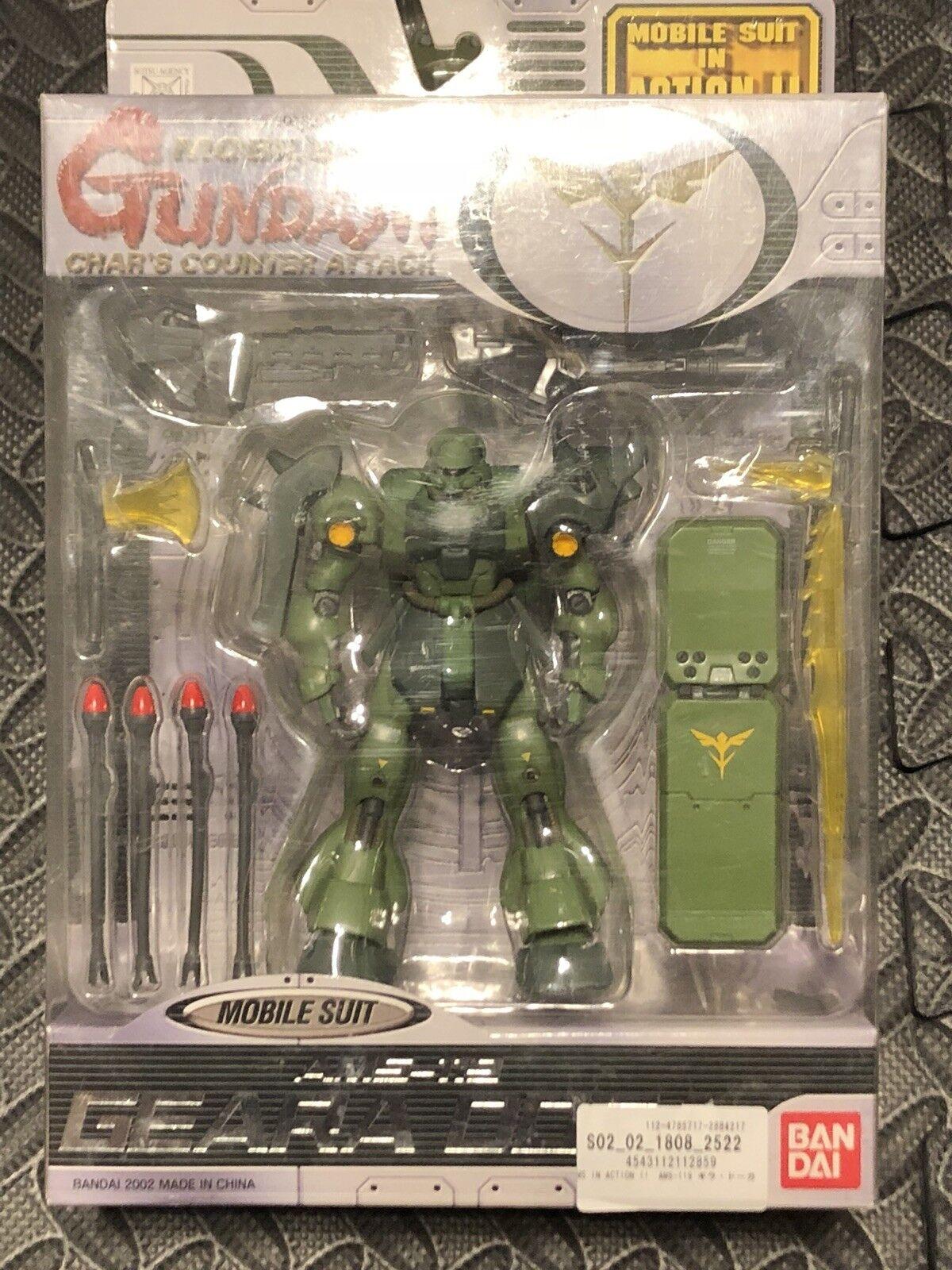 Bandai Char's Counter Gundam Green Geara Doga Action Figure Msia Lot