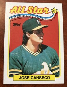 Details About 1988 Topps All Star American League Jose Canseco Oakland As 401