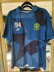 RARE!!! Brazil Away Retro style Nike football Shirt.