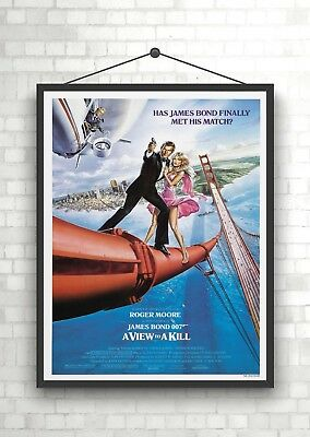 A0 A1 A2 A3 A4 Sizes James Bond View To A Kill Vintage Movie Giant Poster