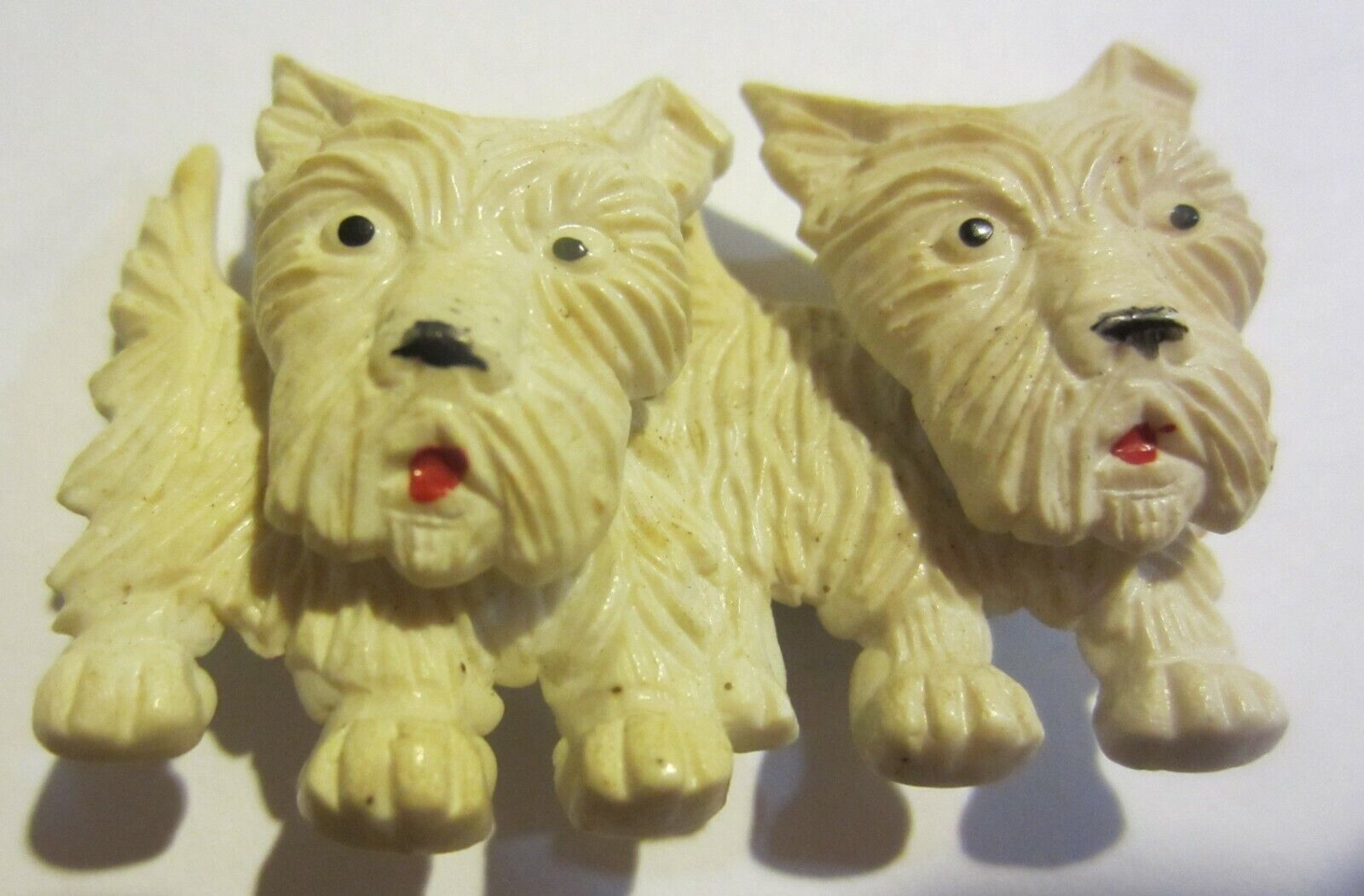 Adorable Vintage Pair of Plastic Scottie Dogs with Movable Heads 2