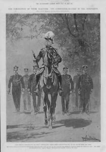 1902-Antique-Print-LONDON-Coronation-Commander-Chief-Earl-Roberts-Abbey-65