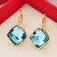 18K-Rose-Gold-GF-13mm-Fashion-Square-CRYSTAL-Hoop-Huggie-Earrings-Multi-Color thumbnail 3