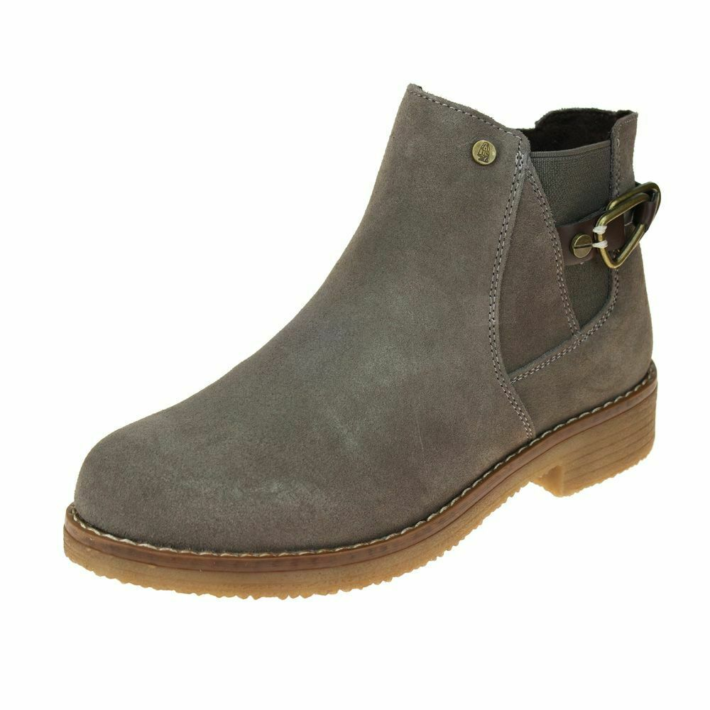 Hush Puppies Alaska damen grau Stiefel Größe uk ladies zip leather