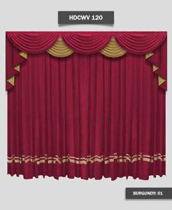 Saaria Home Theater Curtain Valance Movie Theater Decor 14W x 8