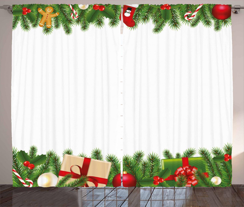 Noel Curtains 2 Panel Set Decoration 5 Größes Window Drapes ...