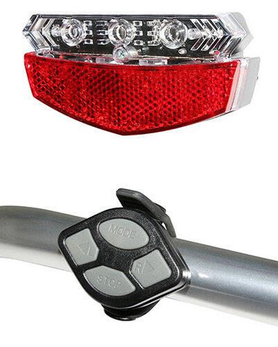 Lighting bike indicators remote control handlebar battery reflector night