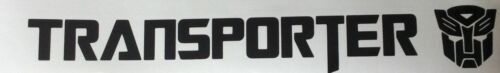 Transporter Transformers Black vinyl car decal sticker transfer Trainspotter