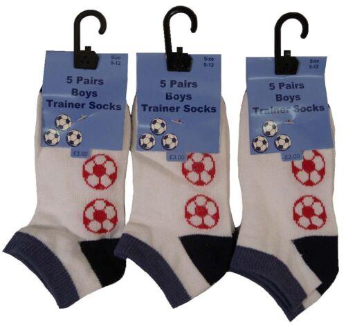 Baby//Boys Football Design Trainer Socks 15 pairs in bargain deal