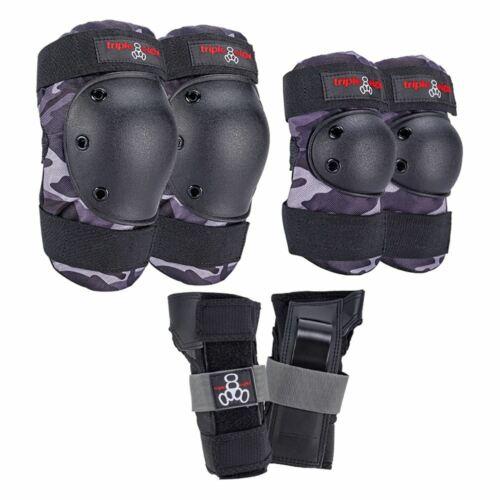 Triple Eight Saver Series 3-Pack minimal padding Charcoal Camo Triple 8