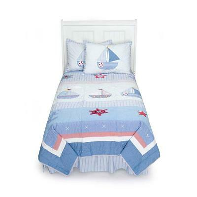 Tiddliwinks Sailboat 3 Piece Full Bedding Set by Kidsline