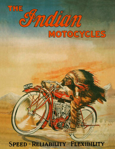 Indian /'Motocycle/' Poster-Vintage Style Poster//17x22 Motorcycle Poster//Print