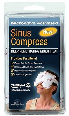 Thermalon Sinus Mask Compress Hot Cold Pressure Relief Congestion Moist Heat Eye