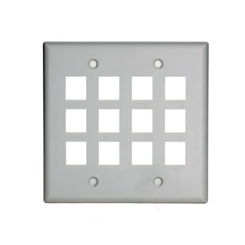 On-Q WP3212WH 2Gang 12Port Wall Plate White Free Shipping