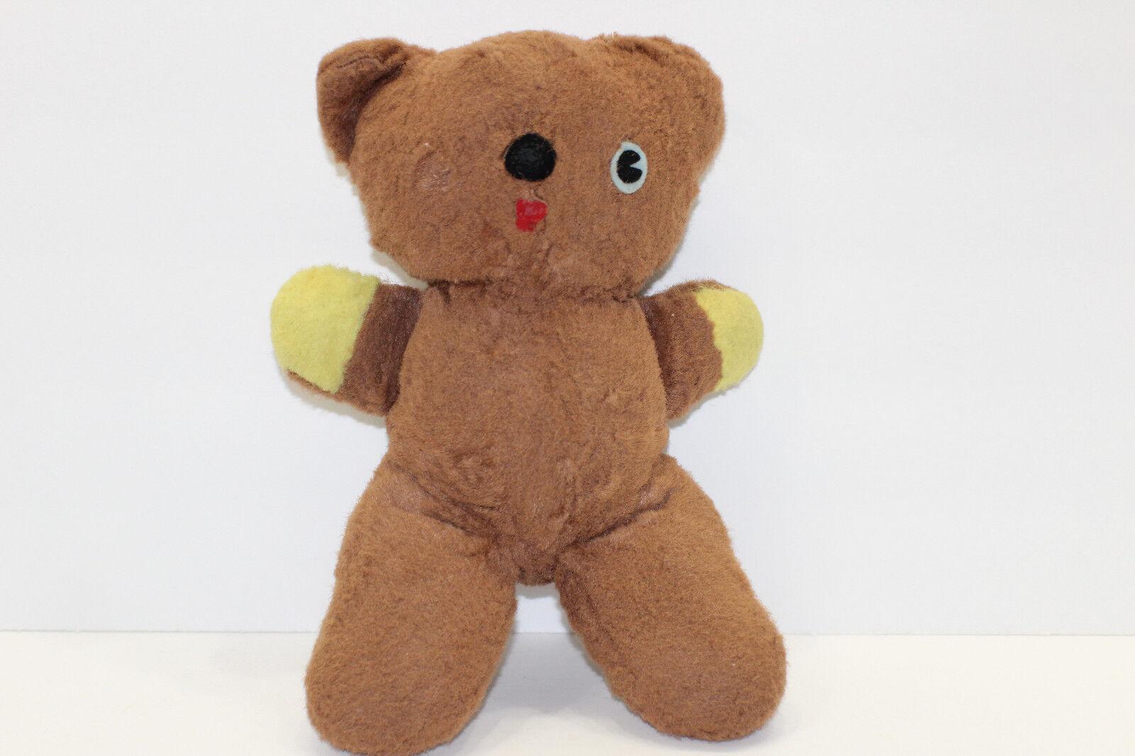 Vintage Braun Stuffed Teddy Bear Felt Eye  11