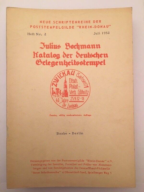 9835] Bochmann, Kataloge der deutschen Gelegenheitsstempel, Heft Nr. 2, gebrauch